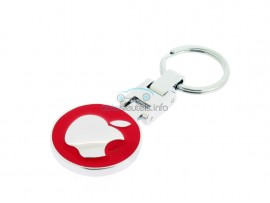Luxe Sleutelhanger Apple  - kleur rood - after market product