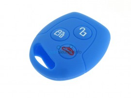 Sleutelhoesje Ford - 3 knoppen - materiaal soft rubber - kleur Donkerblauw - after market product