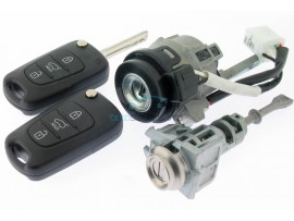 Hyundai compleet lock set voor I10 - 2 sleutels - 433 Mhz - incl ID46 chip - Sleutelblad TOY49 - OEM product