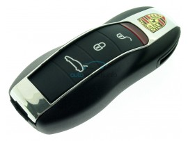 Porsche smartkey - 3 knoppen  - 315 Mhz - ID49 chip- keyless - inclusief noodsleutel - after market product