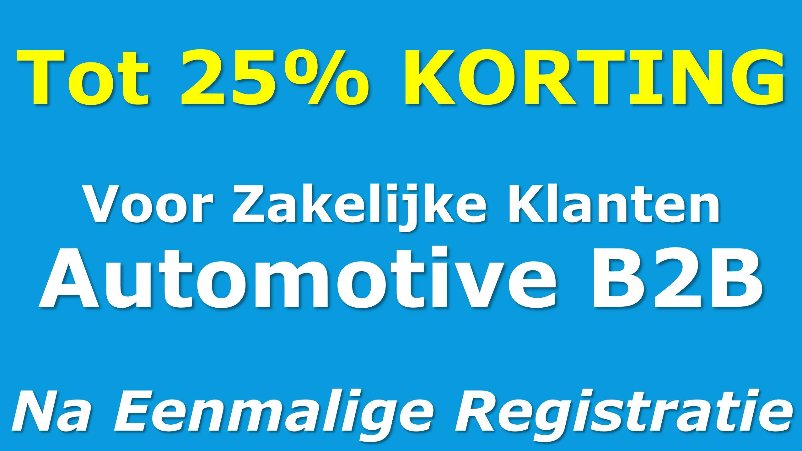 Korting voor Automotive B2B
